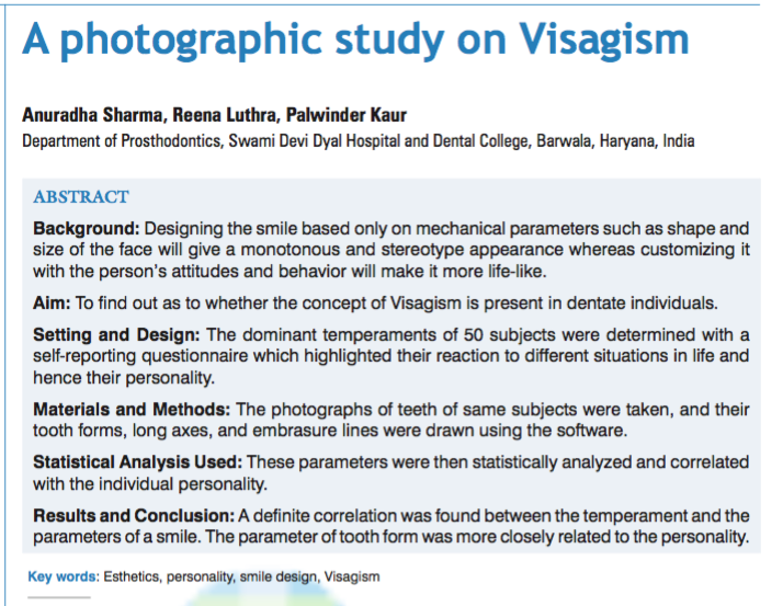 Visagism article